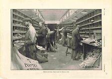 Train Wagon-Poste de Paris/Lille Président Paul Kruger de Marseille GRAVURE 1900