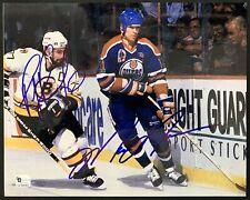 Mark Messier & Ray Bourque Rangers Signed 8x10 Photo Autographed Gretzky GA COA