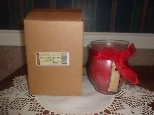 Longaberger Filled Hurricane Candle - Cinnamon Stick