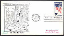 1249 Register To Vote Frank Spoone Cartoon First Cachet LOT A141