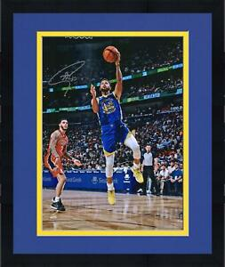 """Frmd Stephen Curry Warriors Signed 16"""" x 20"""" Lay Up v New Orleans Pelicans Photo"""