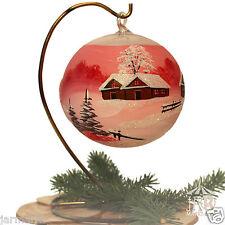 Tealight Tea Light Ball Light Sphere 12cm Red Glass Christmas Ornament Stand