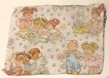 Vtg Cabbage Patch Kids Flat Sheet Doll 1983 Cutter Fabric Sewing Bedding Crafts