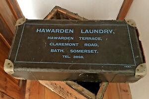 Vintage Laundry Box Dry Cleaning Box  Display Storage Hawarden Laundry Bath