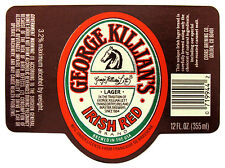Coors Brewing Co GEORGE KILLIAN'S IRISH RED BRAND beer label CO 12oz  Max 3.2%