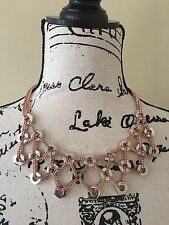 New Marc Jacobs Bolts Bib Statement Necklace Rose Gold Silver $178
