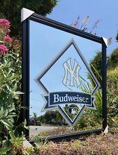 Budweiser New York Yankees Mlb Baseball Beer Bar Pub Man Cave Mirror New