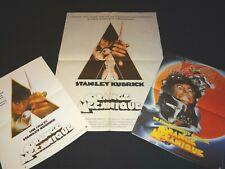 stanley kubrick ORANGE MECANIQUE a clockwork orange ! 3 affiches cinema