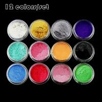 1Set 12 Color Mica Pigment Powder for Soap Cosmetics Resin Colorant Dye