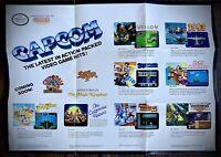 Nintendo NES - 1988 Capcom Promotional Game Poster - RARE