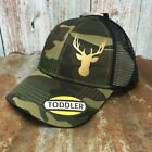 John Deere Tractors Toddler Girls Camo and Black Snapback Hat Gold Sparkle Deer
