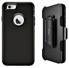 ECL USA iPhone 6S Plus 6 Plus Case with belt clip Holster screen protector Black