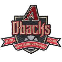 2008 Arizona Diamondbacks 10th Anniversary Jersey Sleeve Patch Black Version