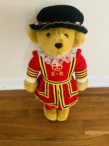 """17"""" Yeoman Guard Tower of London Bear Merrythought Royal Guard Made In England"""