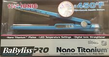 "Authentic BaByliss PRO Nano Titanium 1 1/4"" Straightening Flat Iron NIB"