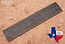 HAND FORGED DAMASCUS STEEL BILLET BAR LADDER PATTERN AH-.1307
