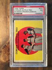 1959 Topps Corsair Outfield Trio #543 PSA 7
