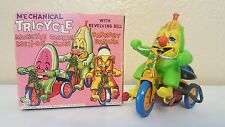 CORKY CORN TRICYCLE - Vintage 1950s Marx Tin Mechanical Celluloid Wind Up