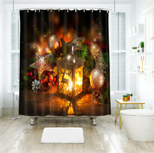 3D Christmas  Xmas 954 Shower Curtain Waterproof Fiber Bathroom Windows Toilet