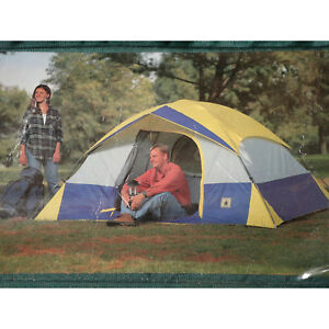 4 Person Outdoor Hiking Camping Tent w/ Rainfly Awning | 9' x 7'