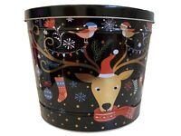 Gourmet Select - Empty Large Collectible Tin - Winter Holiday Christmas Tin