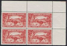 SIERRA LEONE 1938 KGVI RICE HARVESTING 11/2D MNH ** BLOCK