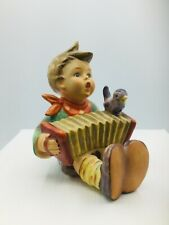 """New ListingGoebel Hummel #110/0 1939 """"Let's Sing� Boy With Accordion And Bird"""