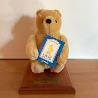 "Limited Edition 2500 Winnie The Pooh & Book Mohair Stuffed Plush By Gabrielle 9"""