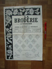 Vintage Retro Hand Embroidery (JOURNAL) FROM LYON, FRANCE 1954