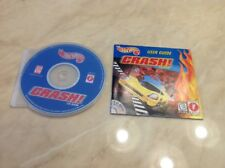 HOT WHEELS CRASH CD-ROM (PC, 1999) COMPLETE WITH BOOKLET - COMMERCIALLY CLEANED