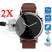 2pcs 9H Tempered Glass Screen Protector for Motorola Moto 360 Watch 42mm/46mm