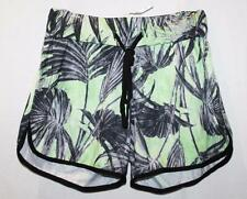 MISSGUIDED Designer Lime Palm Print Runner Shorts Size 8/XS BNWT #SR15