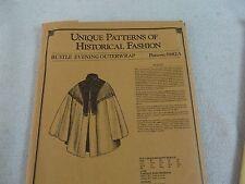 Unique Patterns Historical Fashion 882A  1880's Bustle evening outerwrap Cape