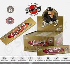 Smoking Gold Cartine Lunghe King Size Slim Oro Scatola Da 50 Libretti x33cartine