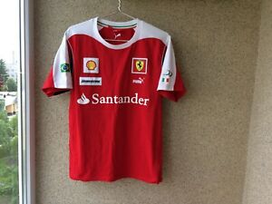 Puma Ferrari SF Massa Red Team Tee Shirt  L Jersey Red Camiseta F1