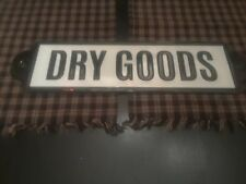 VINTAGE STYLE METAL DRY GOODS SIGN