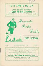NUOVA Zelanda-Manawatu News & prog 7 maggio 1966 feilding oroua Varsity KIA TOA