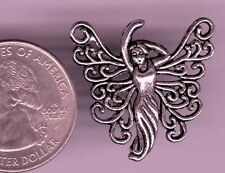 Antique Silver Fairy / Angel Pendant Charm Connector