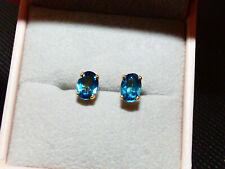 London Blue Topaz Earrings BN Ceylon Stones