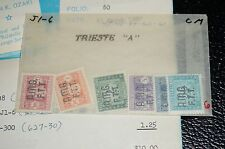 TRIESTE-A MINT #J1-6 OG, MNH, CS/6, SUPERB CONDITION POSTAL FRESH RARE