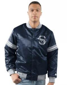 Starter Men's Penn State PSU Draft Pick Football Bomber Jacket Jersey XXL 2XL