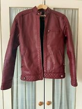 River Island Faux Leather Jacket Mens Small