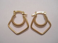 14K Gold Filled Double Hoop Spring Earrings Item #A139