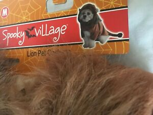 Spooky Village Lion PET / DOG HALLOWEEN COSTUME - Medium NWT