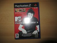 PS2 MTV Music Generator 3 , UK Pal,  New & Sony Factory Sealed