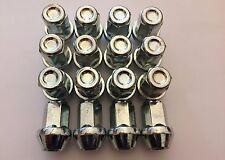 16 x M14x1.5 19M ARGENTO rastremata estremità chiuse Ruote in Lega Dado accoppiamenti CADILAC ATS CTS