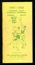 1951-52 West Virginia Kanawha Valley Basketball Conf Schedules Records Ex  mgbx1