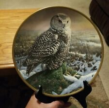 """Hamilton Collection """"Morning Mist"""" Noble Owls of America Collector's Plate"""