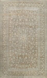 Antique Muted Floral Traditional Distressed Handmade Area Rug Wool Carpet 8x12