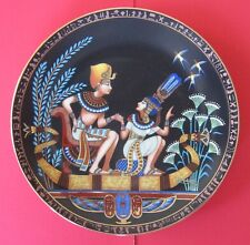 THE LEGEND OF TUTANKHAMUN (KING TUT). COLLECTOR'S PLATE WITH BOX AND PAPERS.